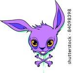 vector tattoo creepy bunny | Shutterstock .eps vector #84098398