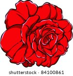 vector tattoo rose | Shutterstock .eps vector #84100861