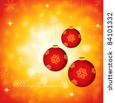 red christmas decoration... | Shutterstock .eps vector #84101332