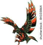 vector skull eagle   Shutterstock .eps vector #84103864