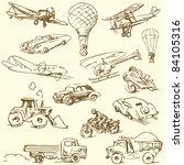 travel doodles   hand drawn... | Shutterstock .eps vector #84105316