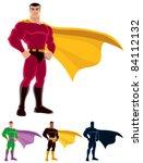 superhero over white background.... | Shutterstock .eps vector #84112132