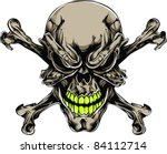 vector tattoo skull | Shutterstock .eps vector #84112714