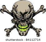 vector tattoo skull | Shutterstock .eps vector #84112714