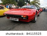 GRANTOWN ON SPEY, SCOTLAND - 4 SEPTEMBER: Ferrari 308 on display in the annual Motor Mania car show on September 4 2011 in Grantown On Spey, Scotland - stock photo