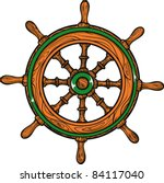 vector tattoo  ship wheel | Shutterstock .eps vector #84117040