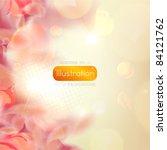 Stock vector romantic flower background 84121762