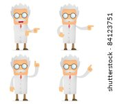 set of funny cartoon scientist... | Shutterstock .eps vector #84123751
