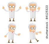 set of funny cartoon scientist... | Shutterstock .eps vector #84125323