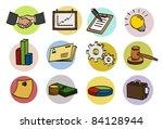 business doodle icon set | Shutterstock .eps vector #84128944