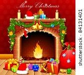 illustration of christmas... | Shutterstock .eps vector #84131401