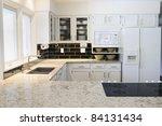 modern kitchen in luxury home | Shutterstock . vector #84131434