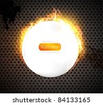 speaker grill texture with fire.... | Shutterstock .eps vector #84133165