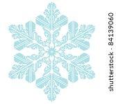 snowflake | Shutterstock .eps vector #84139060
