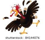 frightened cartoon turkey a...