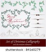 vector set  calligraphic... | Shutterstock .eps vector #84160279