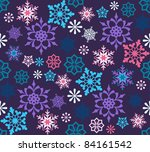 Colorful Snowflakes Seamless ...