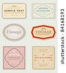 vector set  vintage labels | Shutterstock .eps vector #84168193