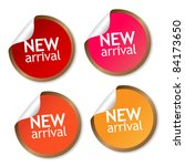 new arrival stickers | Shutterstock . vector #84173650