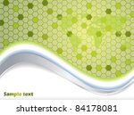 waves and hexagons background...