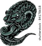 vector tattoo dragon | Shutterstock .eps vector #84178618
