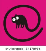 cat at sign   Shutterstock .eps vector #84178996