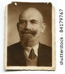 Vintage Portrait Of Man With...
