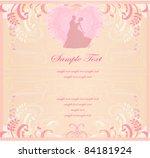 wedding dancing couple... | Shutterstock .eps vector #84181924