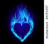 Raster Version. Heart In Blue...