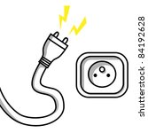 plug and a socket  vector... | Shutterstock .eps vector #84192628