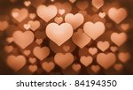 many red hearts background 3d ( high resolution ) - stock photo