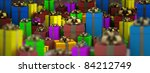Many color gift boxes background 3D render ( high resolution ) - stock photo