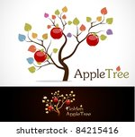 Colorful Apple Tree With...