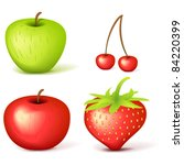 set of vector fruits | Shutterstock .eps vector #84220399