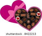 a heart shaped box full of...   Shutterstock .eps vector #8422213