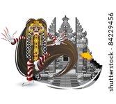indonesian balinese spirits... | Shutterstock .eps vector #84229456