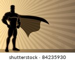 superhero over grunge... | Shutterstock .eps vector #84235930