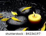 Burning Yellow Candle With...
