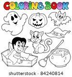 coloring book halloween...   Shutterstock .eps vector #84240814