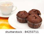 Three Chocolate Muffins With...