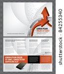 vector business brochure ... | Shutterstock .eps vector #84255340