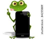 Illustration  Green Frog With...