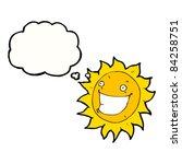 cartoon grinning sun   Shutterstock .eps vector #84258751