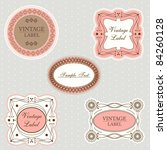 set of vintage labels | Shutterstock .eps vector #84260128