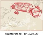 vintage paper background with... | Shutterstock .eps vector #84260665