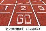Running Track With Numbers And...