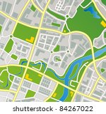 editable vector street map of a ... | Shutterstock .eps vector #84267022
