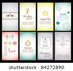 sweet name card collection | Shutterstock .eps vector #84272890