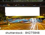 big empty billboard at night in ... | Shutterstock . vector #84275848