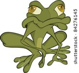 the  green toad. cartoon | Shutterstock .eps vector #84276145